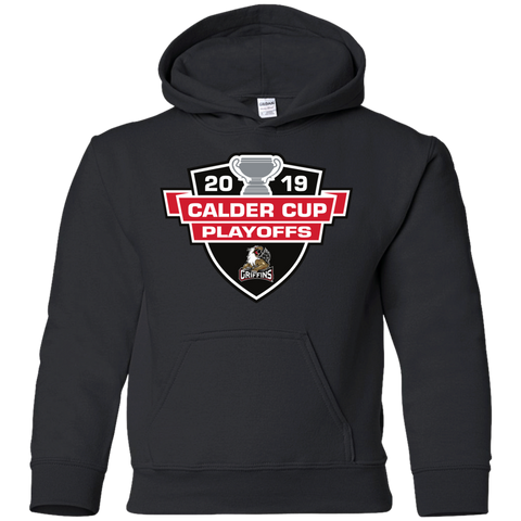 Grand Rapids Griffins 2019 Calder Cup Playoffs Youth Pullover Hoodie