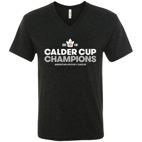 Toronto Marlies 2018 Calder Cup Champions Crown Next Level Men's Triblend V-Neck T-Shirt