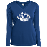 Syracuse Crunch Ladies Long Sleeve Performance Vneck T-Shirt