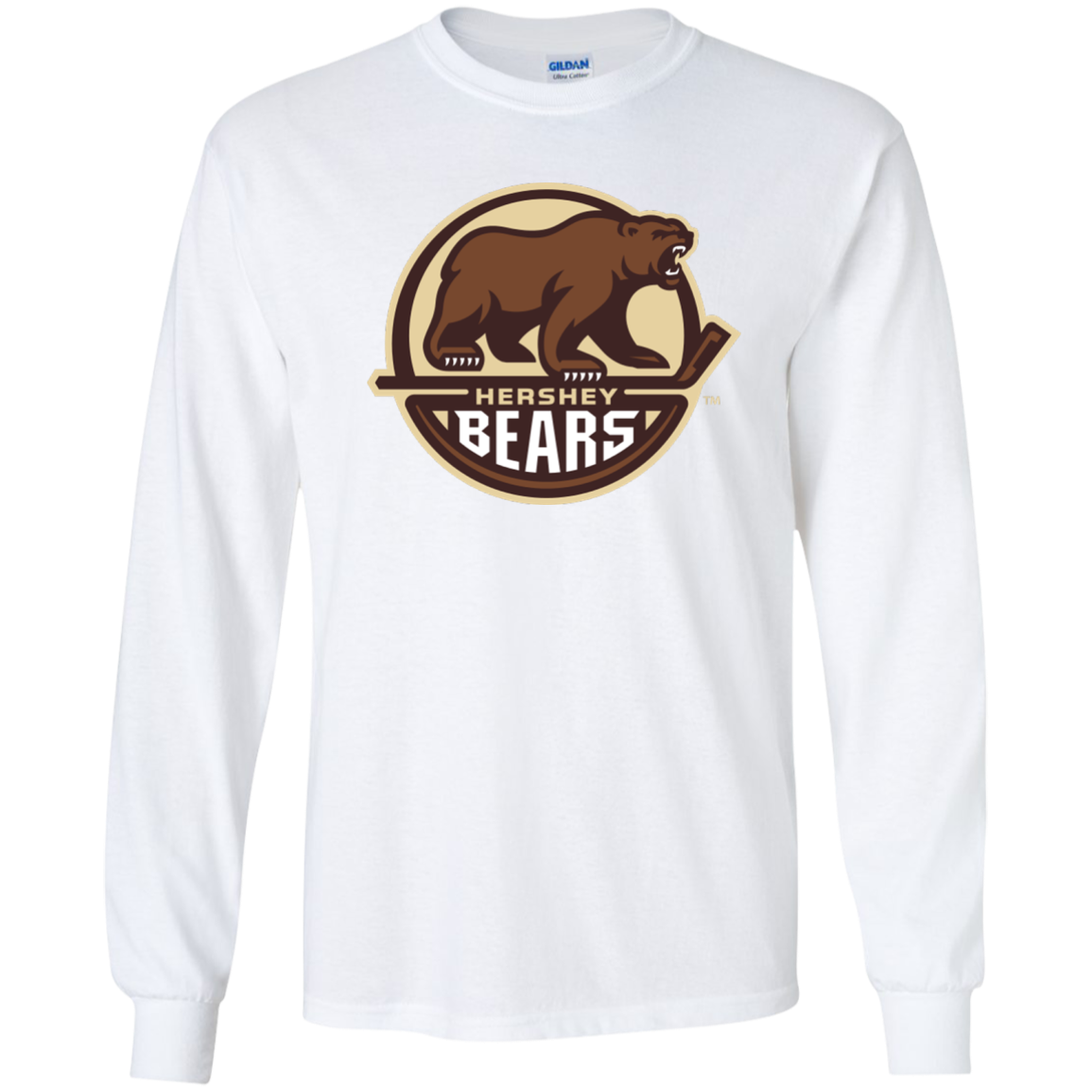 Hershey Bears Primary Logo Youth Long Sleeve Shirt