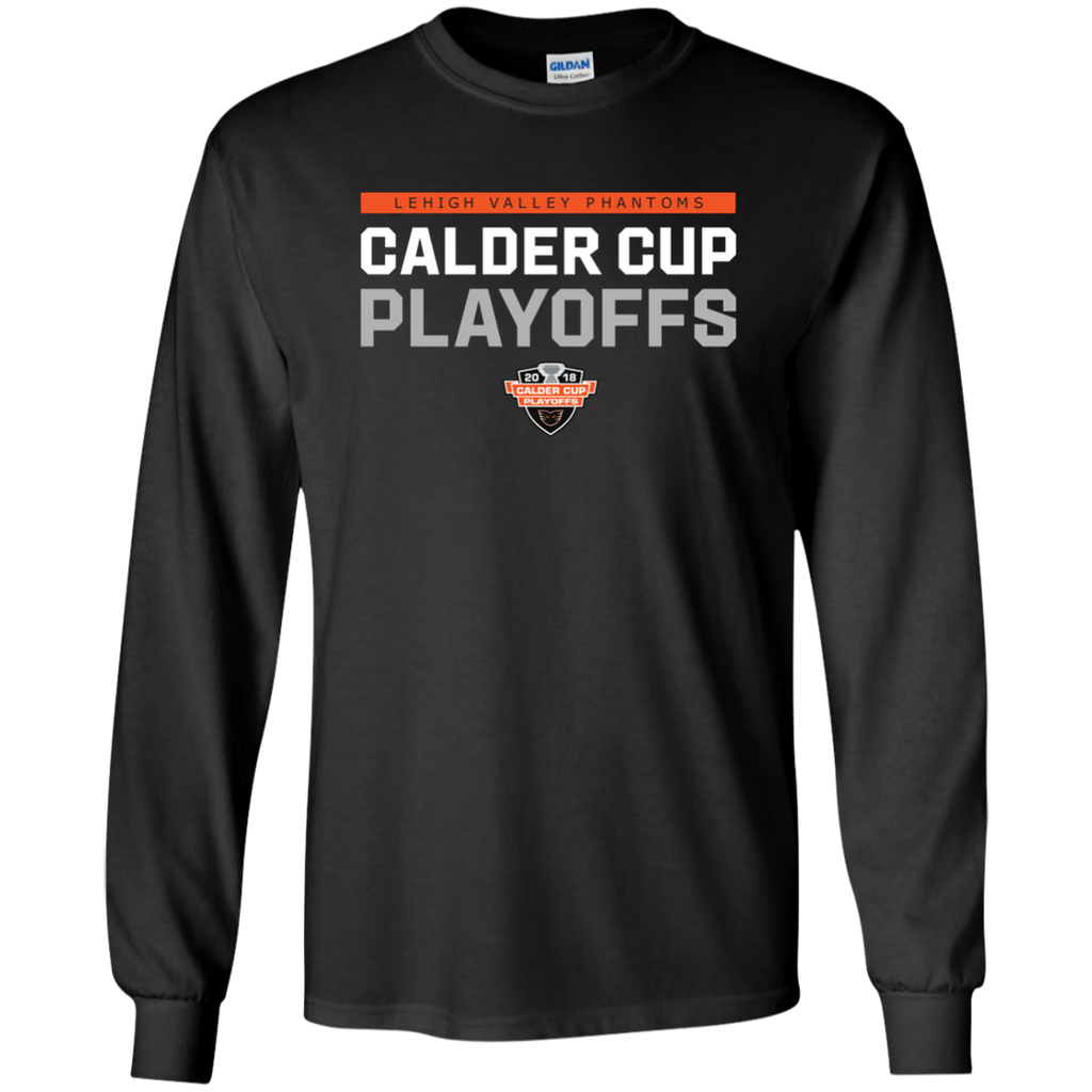 Lehigh Valley Phantoms Adult 2018 Postseason Long Sleeve Cotton T-Shirt