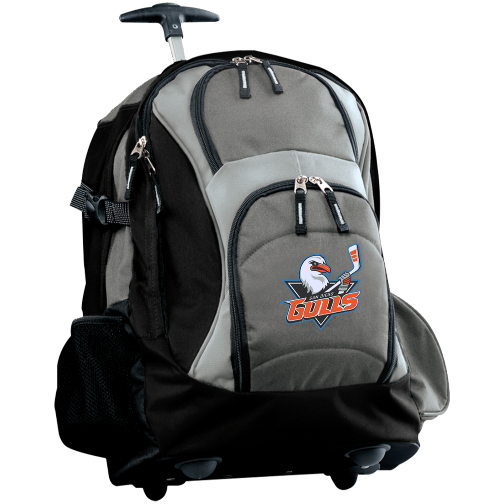 San Diego Gulls Embroidered Wheeled Backpack