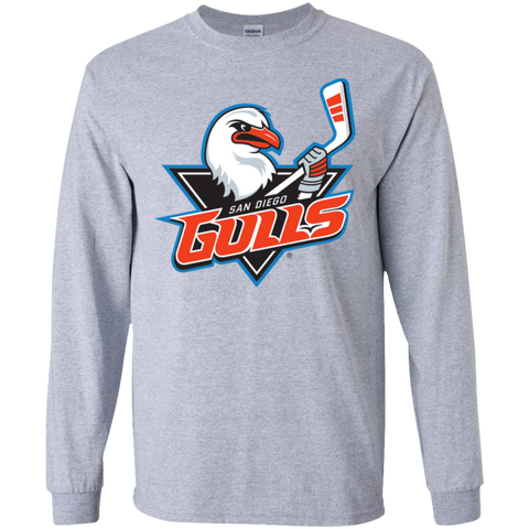 San Diego Gulls Primary Logo Adult Long Sleeve T-Shirt