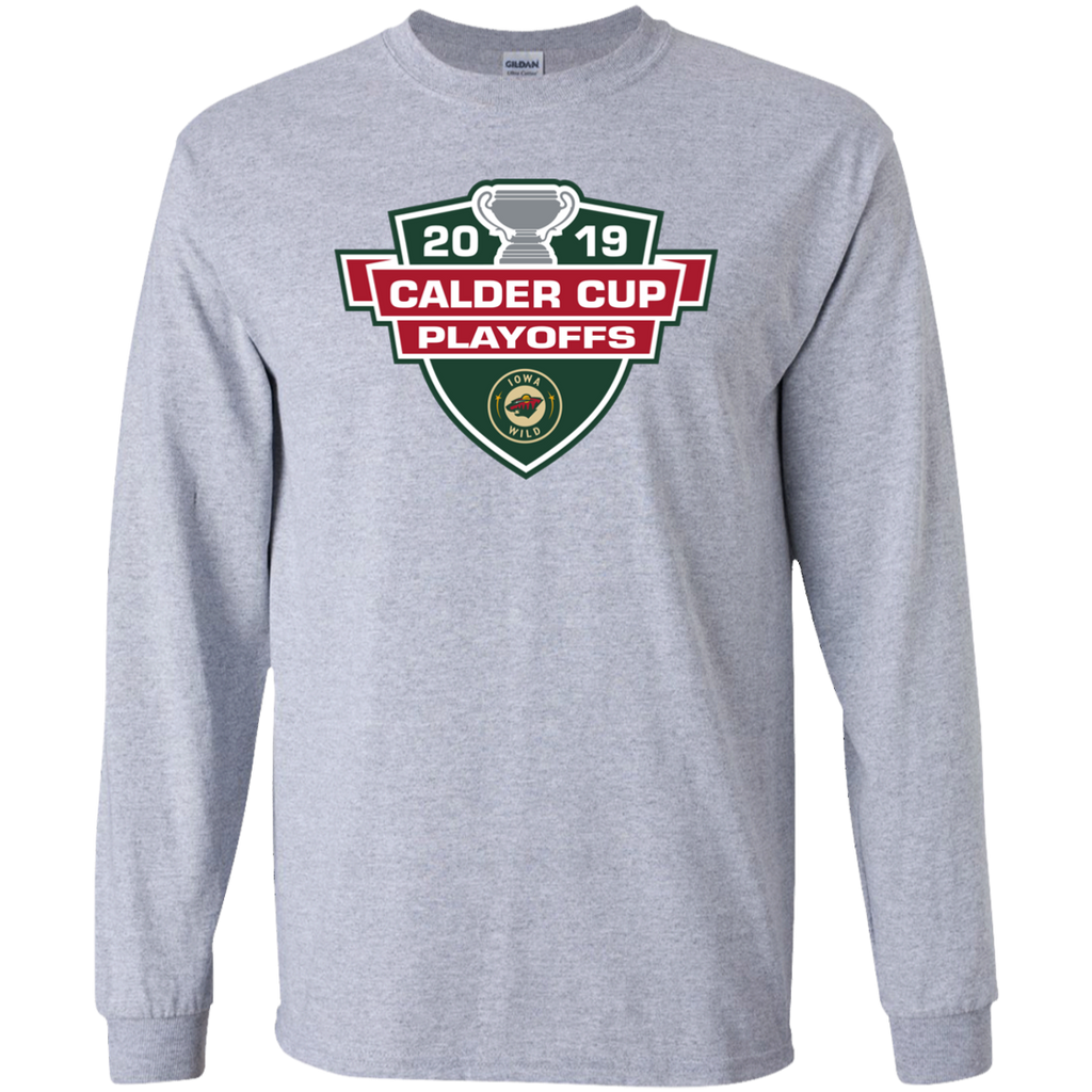 Iowa Wild 2019 Calder Cup Playoffs Youth Long Sleeve T-Shirt