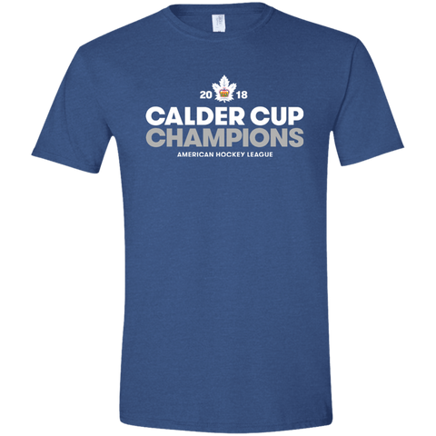 Toronto Marlies 2018 Calder Cup Champions Adult Crown Softstyle T-Shirt