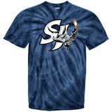 San Jose Barracuda Primary Logo Youth Tie Dye T-Shirt