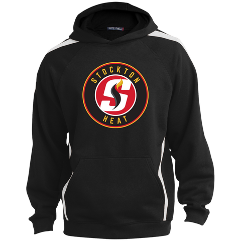 Stockton Heat Youth Sleeve Stripe Pullover Hoodie