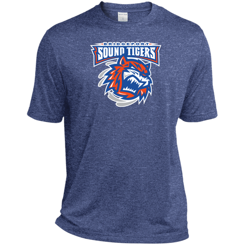 Bridgeport Sound Tigers Primary Logo Heather Dri-Fit Moisture-Wicking T-Shirt