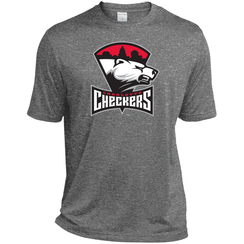 Charlotte Checkers Adult Heather Dri-Fit Moisture-Wicking T-Shirt