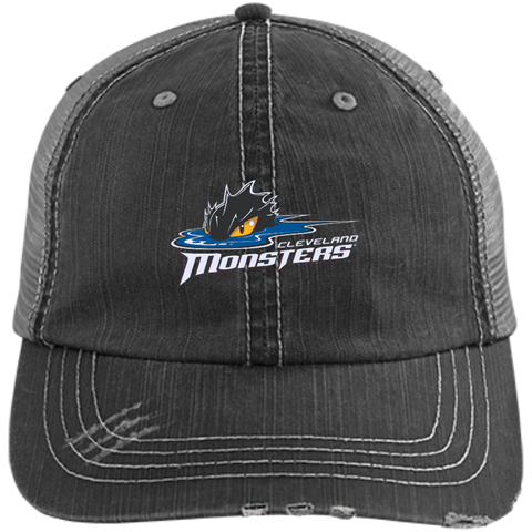 Cleveland Monsters Distressed Unstructured Trucker Cap