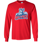 Hartford Wolf Pack Primary Logo Youth Long Sleeve T-Shirt