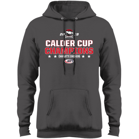 Charlotte Checkers 2019 Calder Cup Champions Adult Stacked Fleece Pullover Hoodie