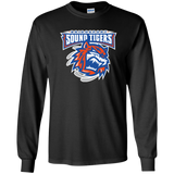 Bridgeport Sound Tigers Primary Logo Adult Long Sleeve T-Shirt