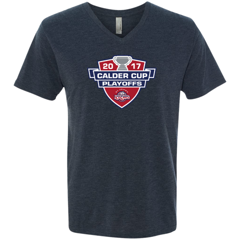 St. John's IceCaps 2017 Calder Cup Playoffs Men's Next Level Triblend V-Neck Tee