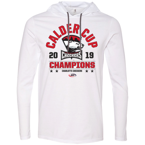 Charlotte Checkers 2019 Calder Cup Champions Long Sleeve Arch T-Shirt Hoodie
