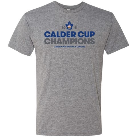Toronto Marlies 2018 Calder Cup Champions Next Level Men's Crown Triblend T-Shirt