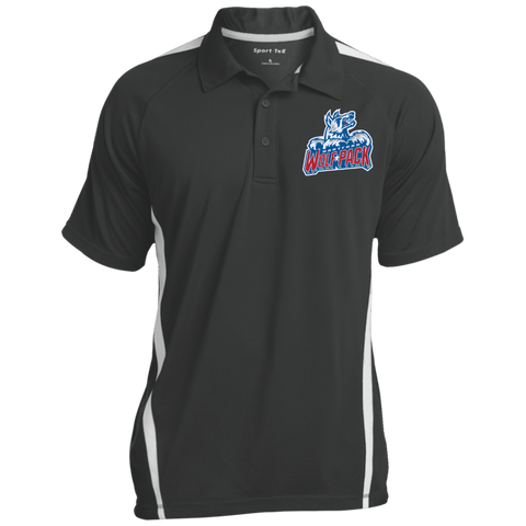 Hartford Wolf Pack Mens Custom Colorblock 3-Button Polo