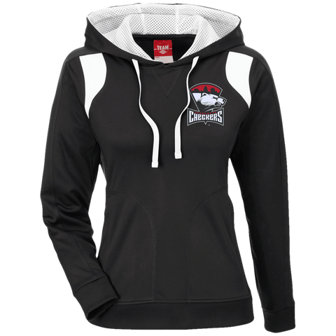 Charlotte Checkers Team 365 Ladies' Colorblock Poly Hoodie