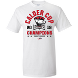 Charlotte Checkers 2019 Calder Cup Champions Adult Arch Tall Ultra Cotton T-Shirt