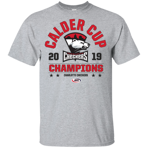 Charlotte Checkers 2019 Calder Cup Playoffs Youth Arch Cotton T-Shirt