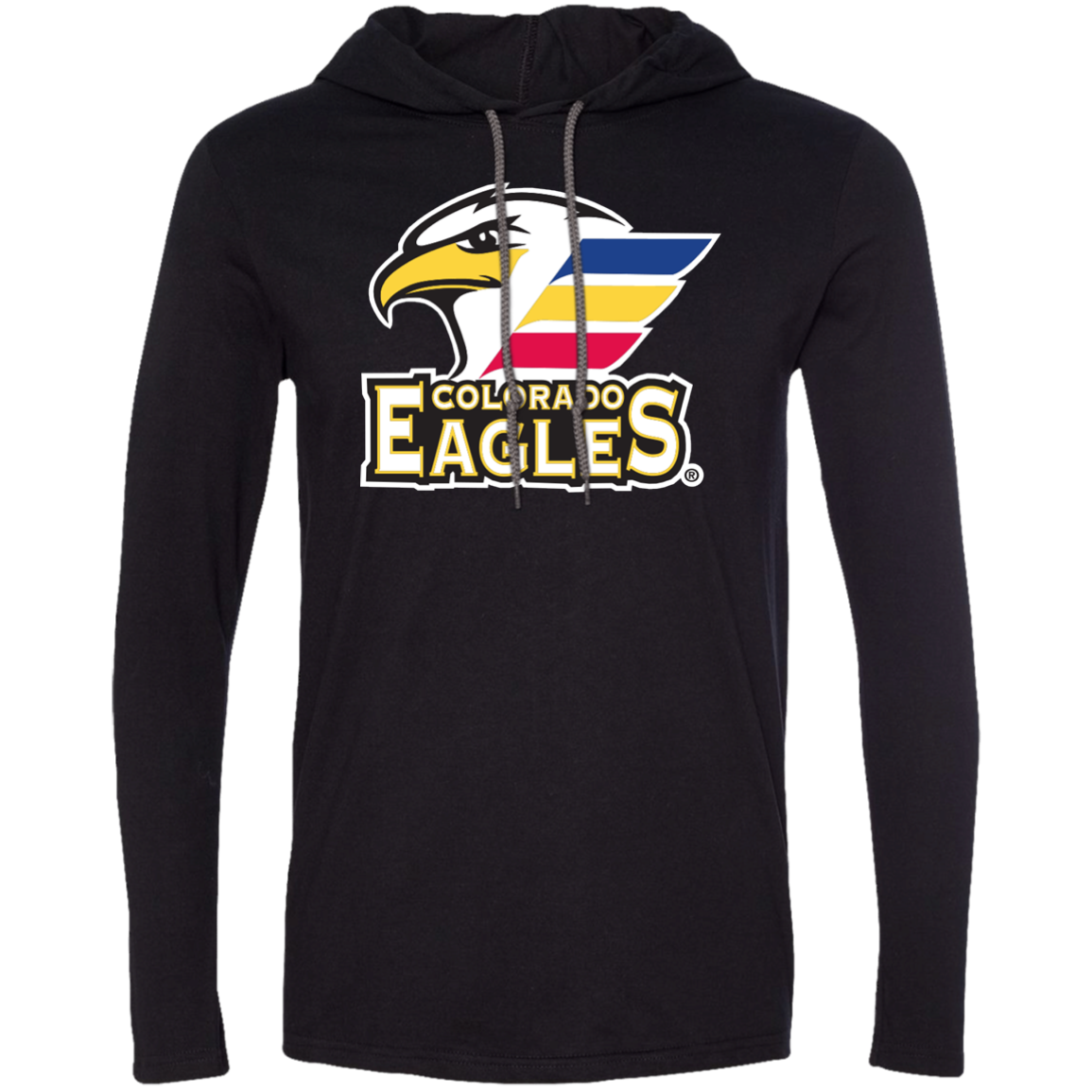 Colorado Eagles Primary Logo Adult Long Sleeve T Shirt Hoodie