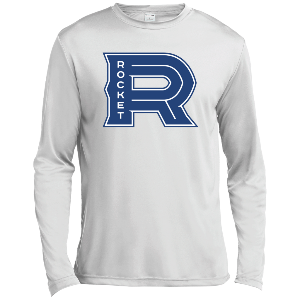 Laval Rocket Primary Logo Adult Long Sleeve Moisture Absorbing T-Shirt