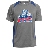 Hartford Wolf Pack Primary Logo Adult Heather Colorblock Poly T-Shirt