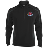 Rockford IceHogs Men's Sport Wicking Colorblock 1/2 Zip