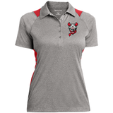 Binghamton Devils Ladies' Heather Moisture Wicking Polo
