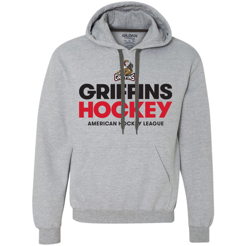 Grand Rapids Griffins Hockey Adult Heavyweight Pullover Fleece Sweatshirt