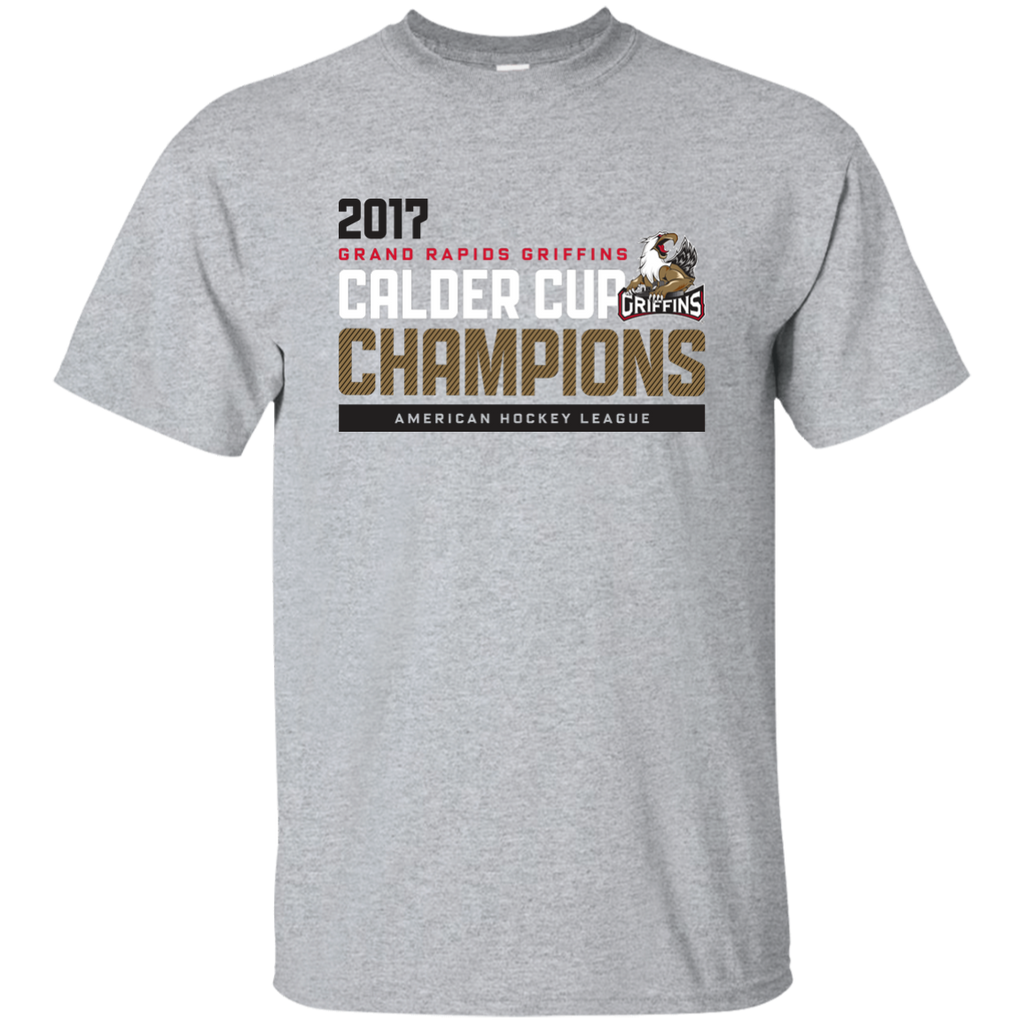 Grand Rapids Griffins 2017 Calder Cup Champions Athletic Youth T-Shirt