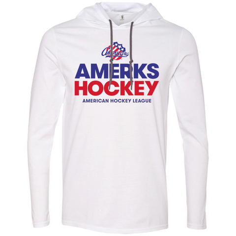 Rochester Americans Hockey Adult Long Sleeve T-Shirt Hoodie