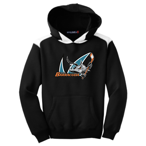 San Jose Barracuda Primary Logo Youth Colorblock Hoodie