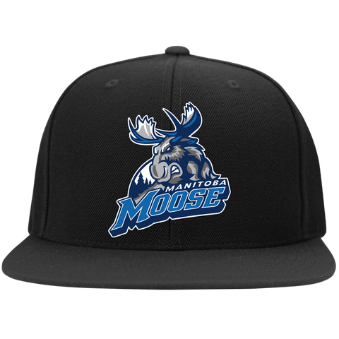 Manitoba Moose Flat Bill High Profile Snapback Hat