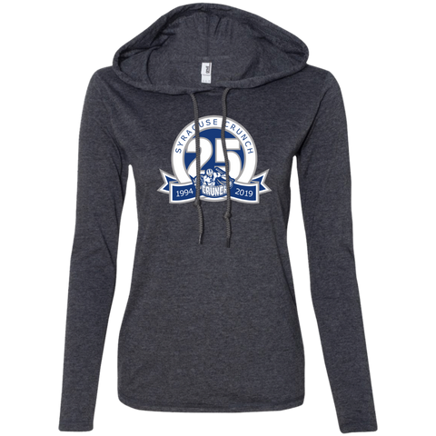 Syracuse Crunch 25th Anniversary Ladies' Long Sleeve T-Shirt Hoodie
