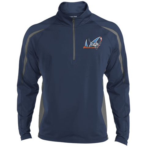 San Jose Barracuda Mens Sport Wicking Colorblock Half-Zip