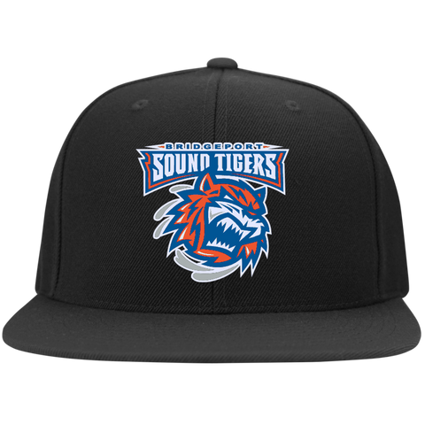 Bridgeport Sound Tigers Flat Bill High-Profile Snapback Hat