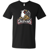 Grand Rapids Griffins Primary Logo Men's Printed V-Neck T