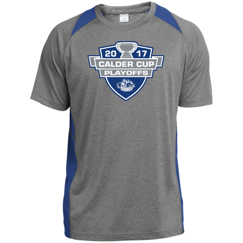 Syracuse Crunch Adult 2017 Calder Cup Playoffs Heather Colorblock Poly T-Shirt