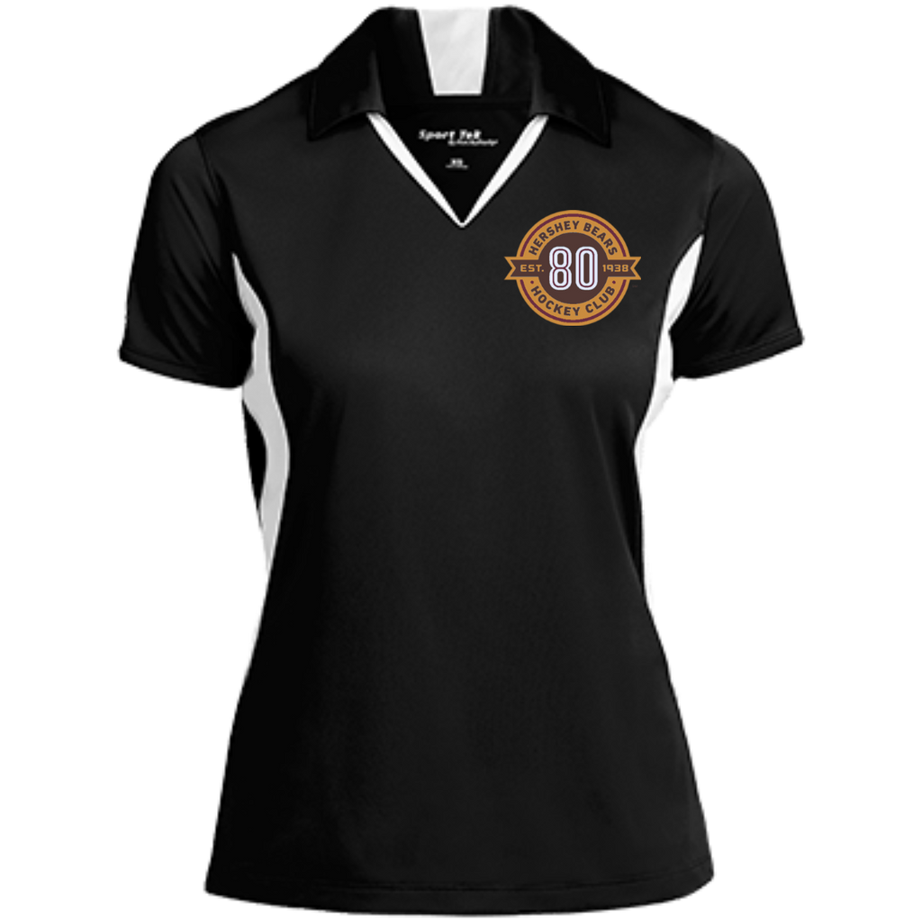 Hershey Bears 80th Anniversary Ladies' Colorblock Performance Polo
