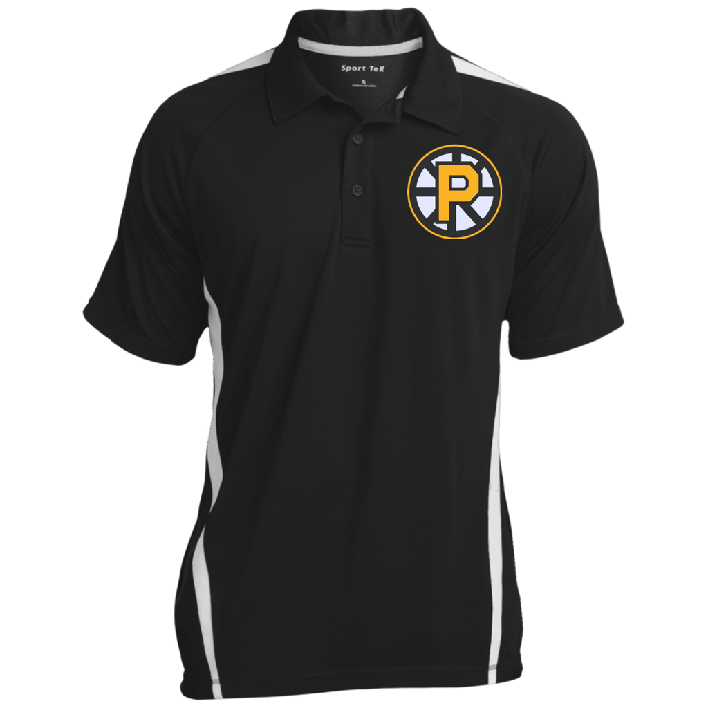 Providence Bruins Mens Custom Colorblock 3-Button Polo