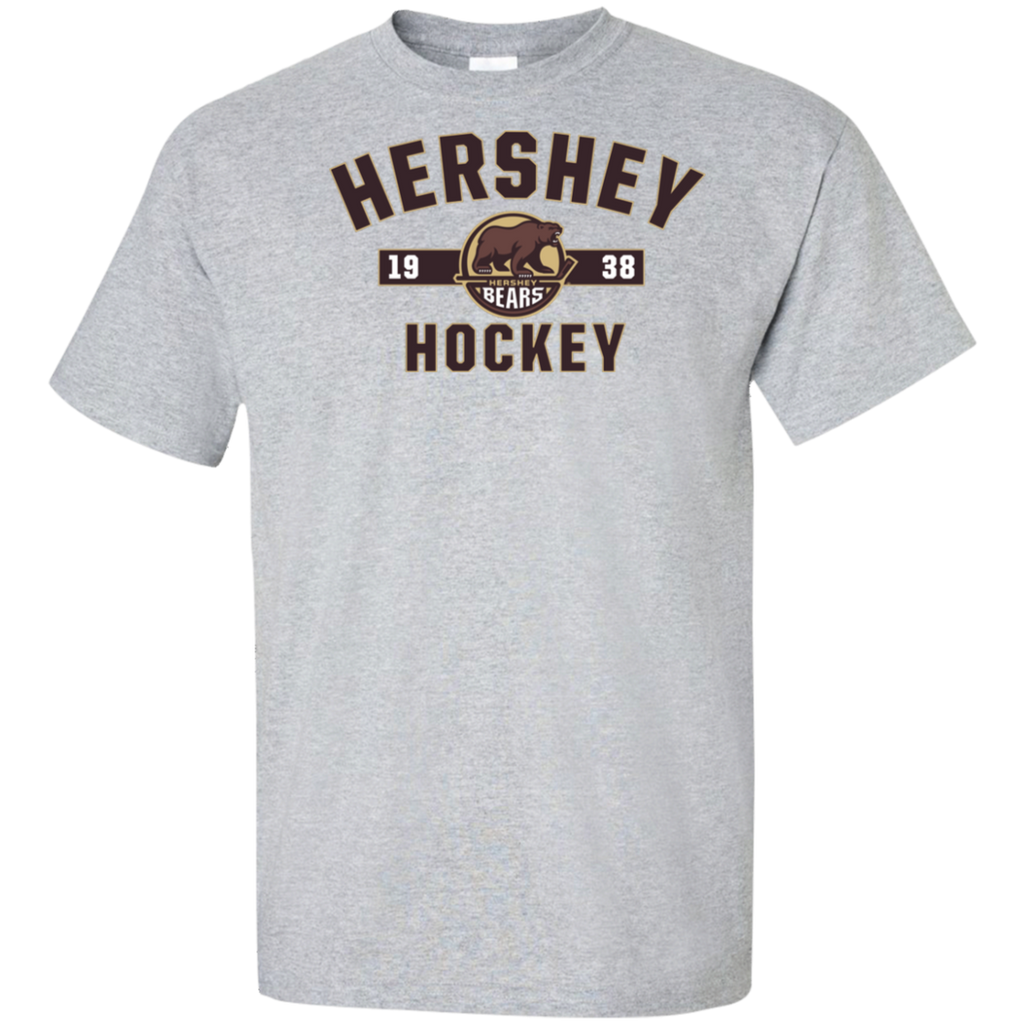 Hershey Bears Adult Established Tall Short Sleeve Cotton T-Shirt