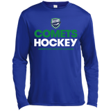 Utica Comets Hockey Adult Long Sleeve Moisture Absorbing T-Shirt