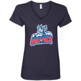 Hartford Wolf Pack Primary Logo Ladies' V-Neck T-Shirt