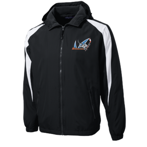 San Jose Barracuda Youth Colorblock Fleece-Lined Jacket