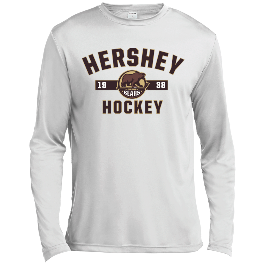 Hershey Bears Adult Established Long Sleeve Moisture Absorbing T-Shirt
