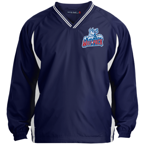 Hartford Wolf Pack Tipped VNeck Wind Shirt
