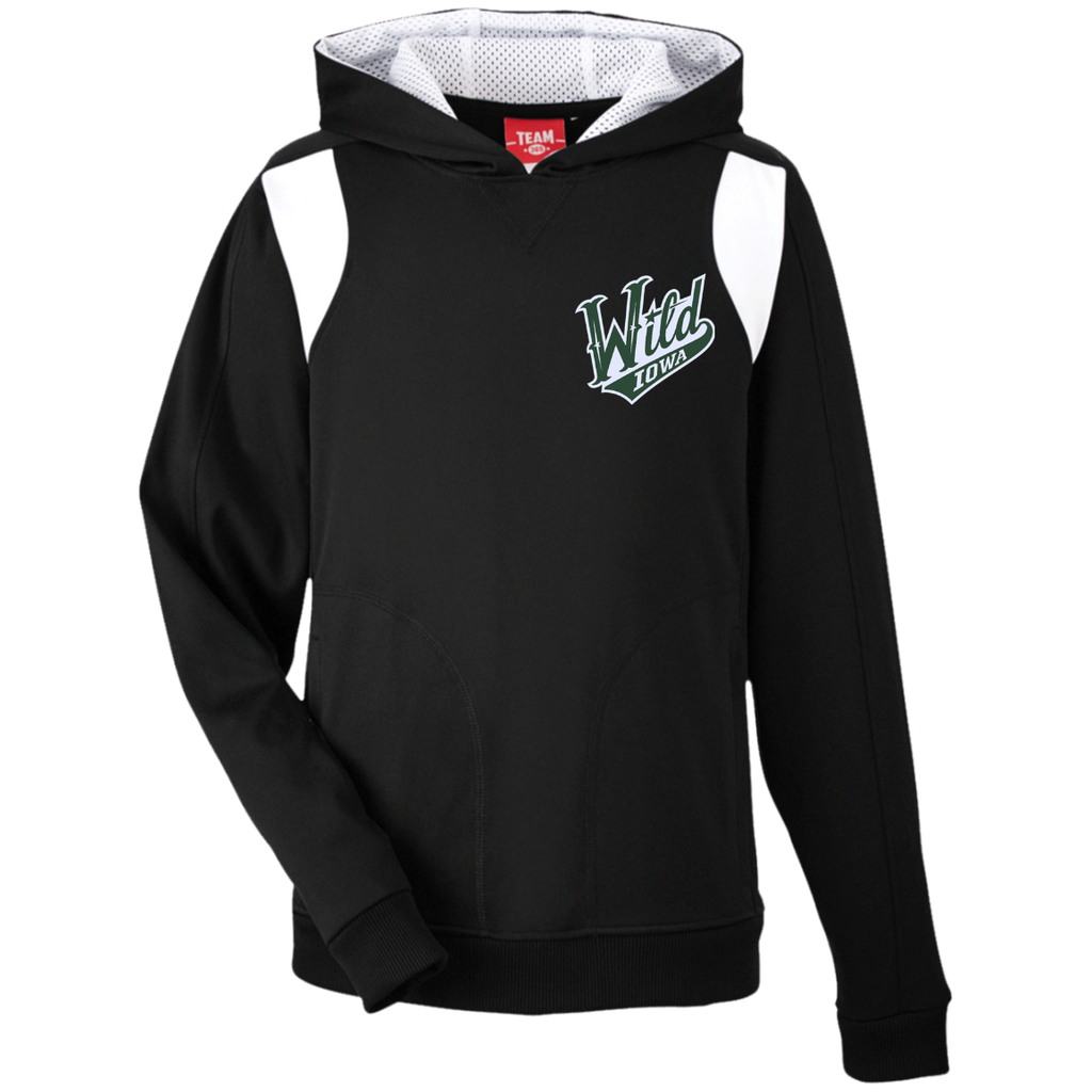 Iowa Wild Team 365 Youth Colorblock Poly Hoodie