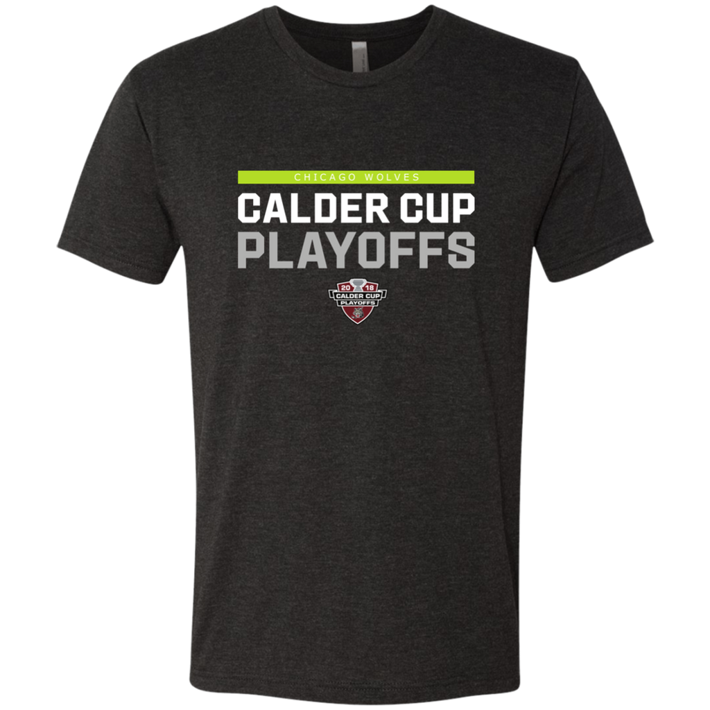 Chicago Wolves 2018 Postseason Next Level Men's Triblend T-Shirt