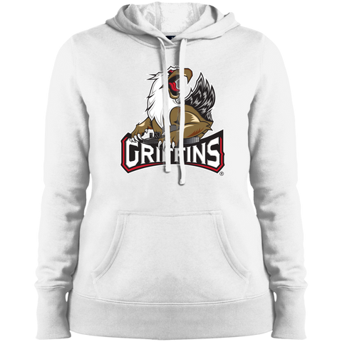 Grand Rapids Griffins Primary Logo Ladies Pullover Hooded Sweatshirt